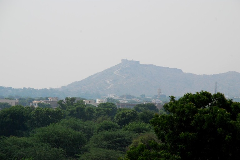 Kishangarh fort in the Distance