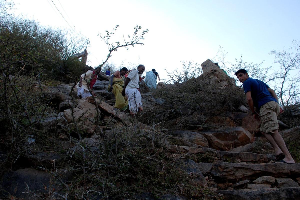 The real climb!