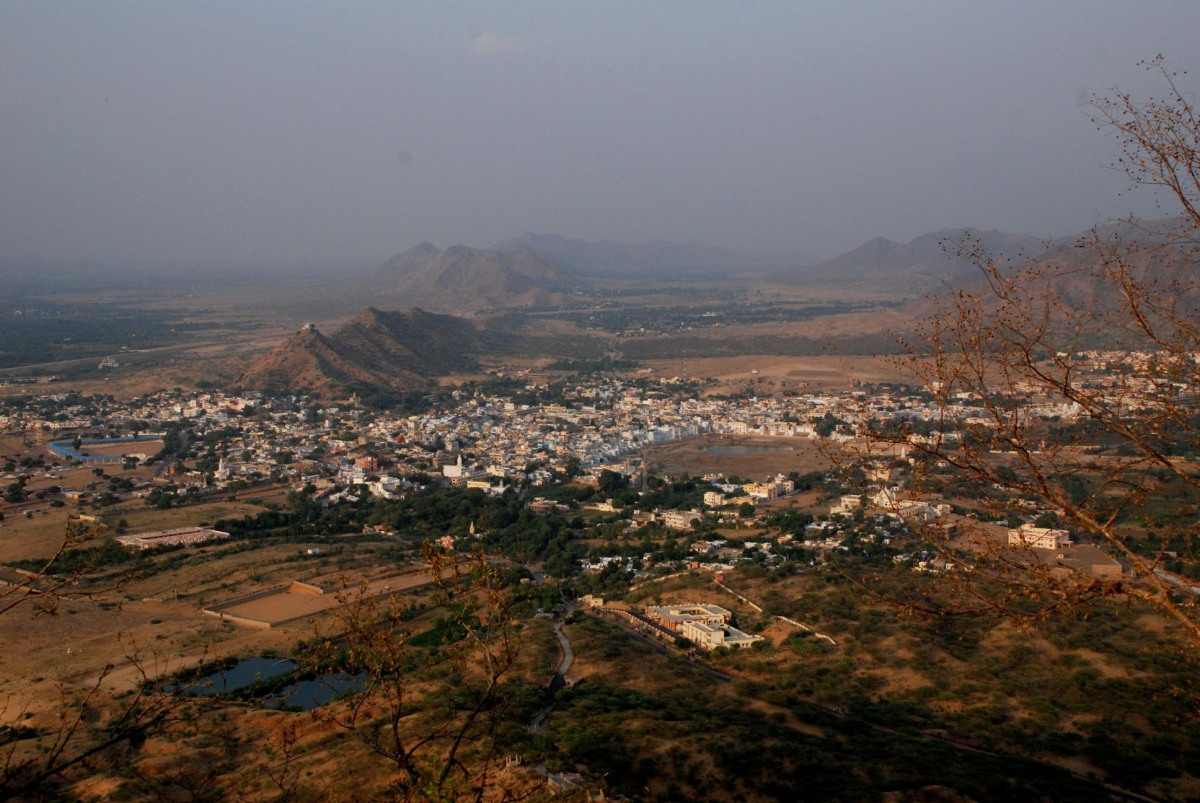 View of Pushkar from the top