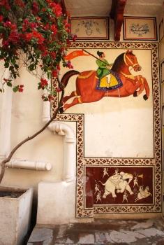 Quintessentially Bundi - Fresco in a little lane