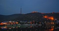 Bundi Palace and the Taragarh fort crowning it