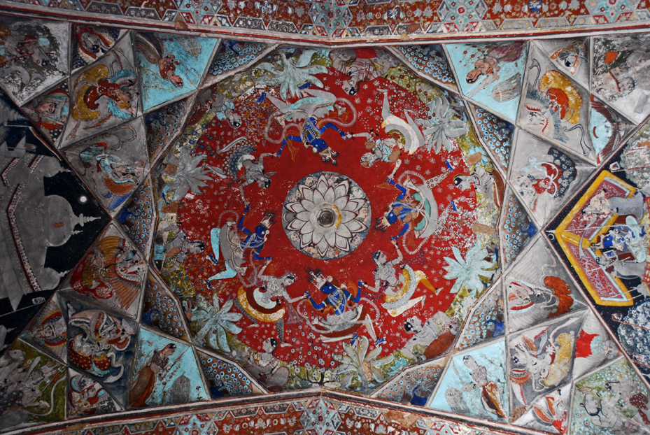 The stunning  Badal Mahal ceiling in one frame.