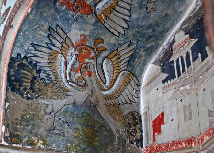 Strange birds. Roosters? Phoenixes?