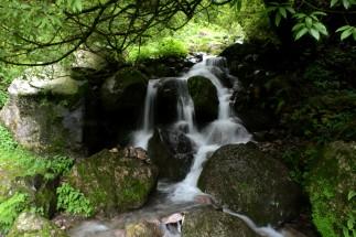 Small waterfall meets slow shutter speed
