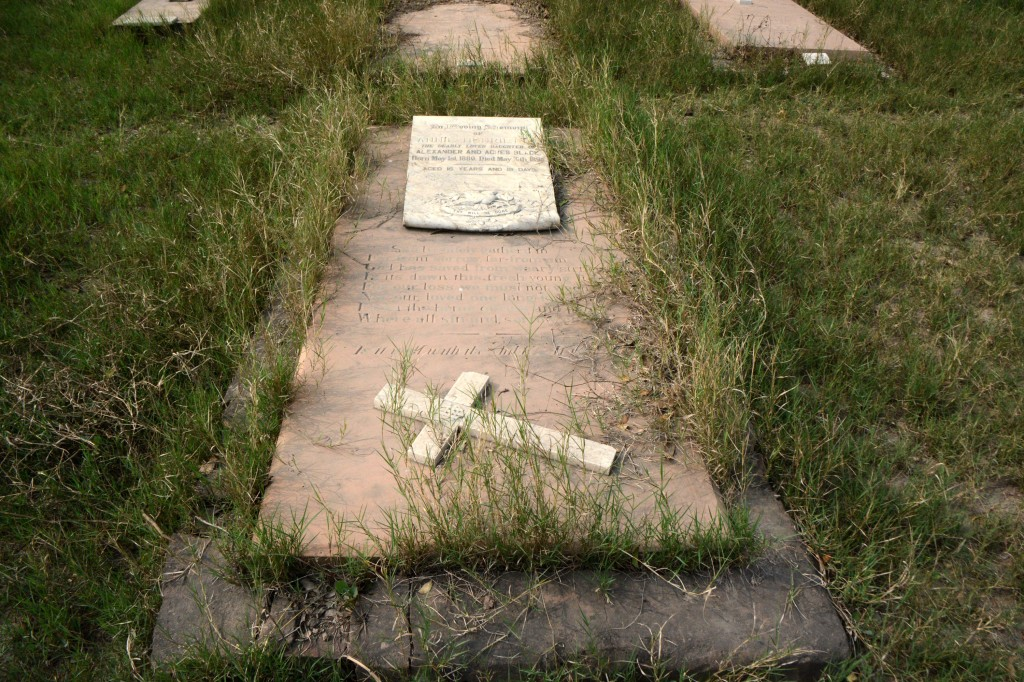 Grave of the 15 year old girl