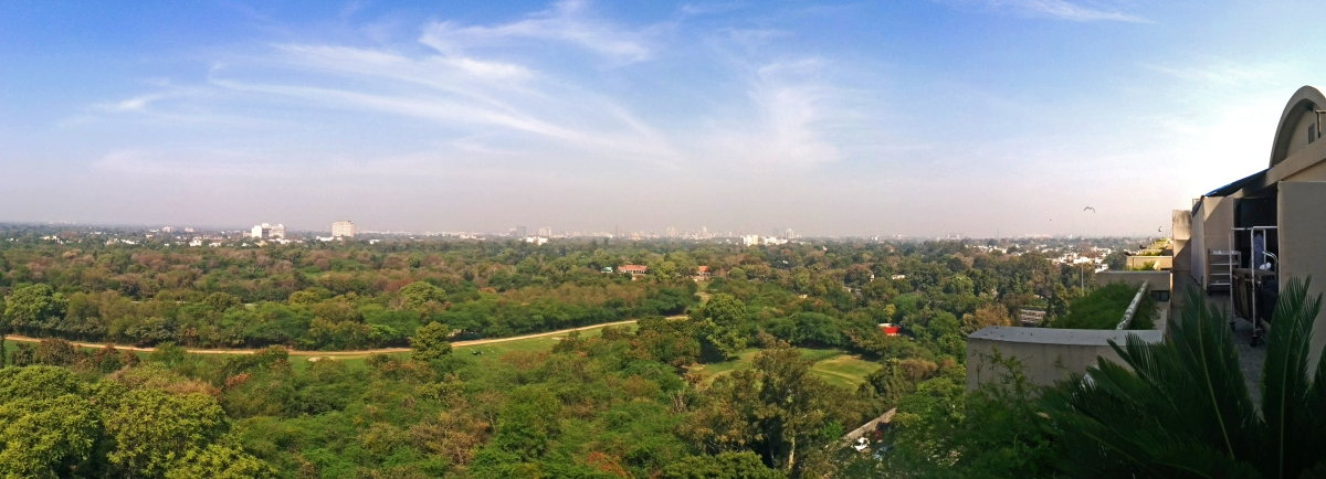 Sweeping view of the Delhi Golf Course