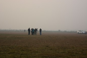 Birders in the dying light