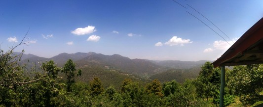 And at last, a panoramic view from the veranda