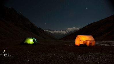 Camps in the stillness of the night
