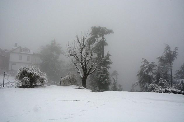 A village under snow