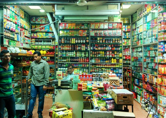 Walls of plenty in Delhi's INA market