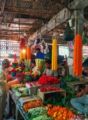 There is space for everything at the market, even for offerings to the supreme being(s)