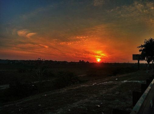 Somewhere between Delhi and Noida