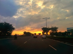 Smooth was the road, stunning was the sky