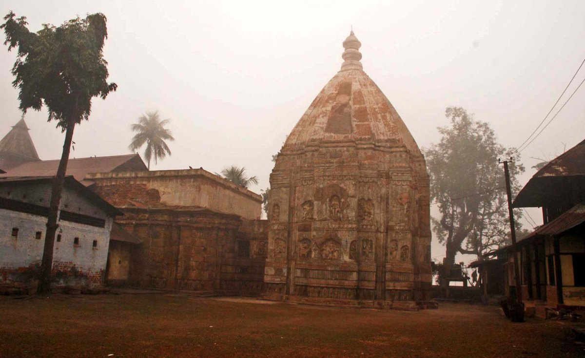 Haigrib Madhab Temple in Hajo, where the Bulbul fights take place
