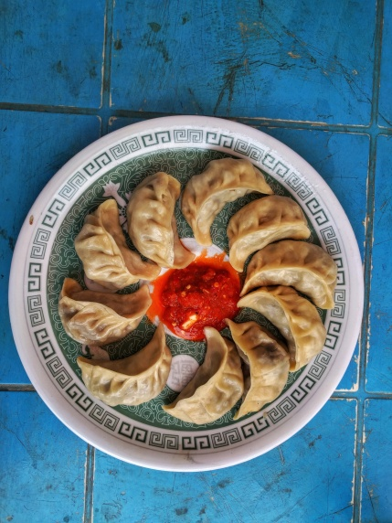 Mutton momos at 3500 m